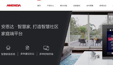 安恩达科技网站设计案例|深圳营