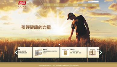 谷旗食品网站设计官网